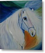 Horse Painting- Knight In Dream Metal Print
