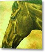 horse portrait PRINCETON soft colors Metal Print
