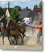 Horse Pull 3 Metal Print