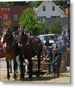 Horse Pull H Metal Print
