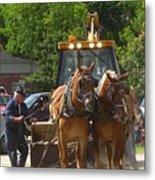 Horse Pull In New Brunswick Canada Metal Print