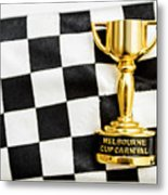 Horse Races Trophy. Melbourne Cup Win Metal Print