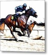 Horse Racing Dreams 1 Metal Print