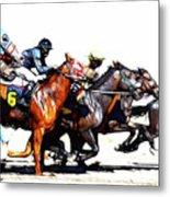 Horse Racing Dreams 3 Metal Print
