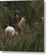 Horseback Riding Kauai Trail Metal Print