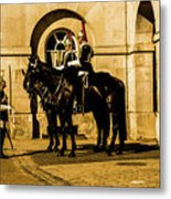 Horseguards Inspection. Metal Print