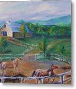 Horses At Gettysburg Metal Print