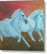 Horses Gone Wild Metal Print