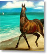 Horses In Paradise  Dance Metal Print