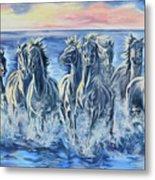Horses Of The Sea Metal Print