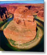 Horseshoe Bend Filters Paint  Metal Print