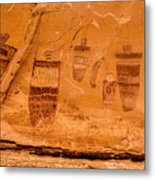 Horseshoe Canyon Great Gallery Group 3 Pictographs Metal Print