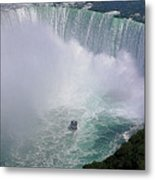 Horseshoe Falls And Maid Of The Mist Metal Print