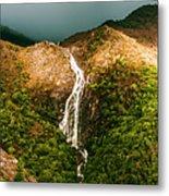 Horsetail Falls In Queenstown Tasmania Metal Print
