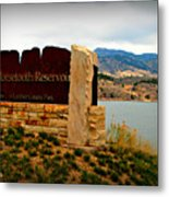 Horsetooth Peak Above The Reservoir Metal Print