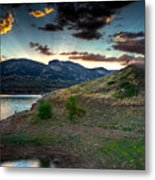 Horsetooth Reservior At Sunset Metal Print