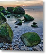 Horton Point Ny At Sunset Metal Print