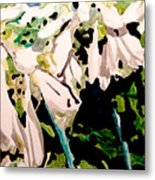 Hosta Blooms Metal Print