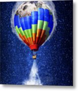 Hot Air Balloon / Digital Art Metal Print