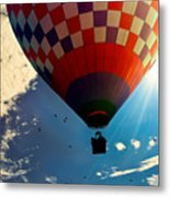 Hot Air Balloon Eclipsing The Sun Metal Print