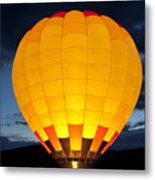 Hot Air Balloon Glow Metal Print