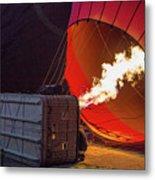 Hot Air Balloon. Inflation. Metal Print