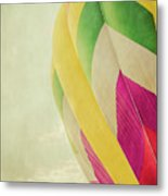 Hot Air Balloon With Pastel Sky Metal Print