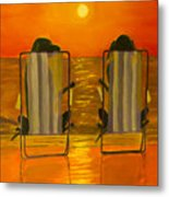 Hot Day At The Beach Metal Print
