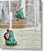 Hot Day In Philly Metal Print