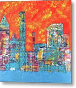 Hot Day In The City Metal Print