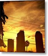 Hot Day On The Strip Metal Print