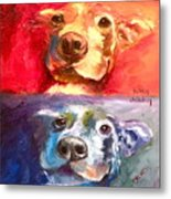 Hot Dog Chilly Dog Study Metal Print