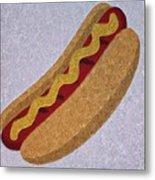 Hot Dog Emoji Metal Print