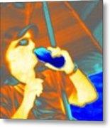 Hot Dude Cool Drink Metal Print