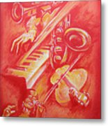 Hot Jazz Metal Print