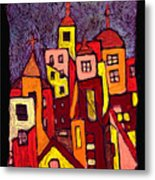 Hot Night In The City Metal Print