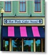 Hot Pink Cake Stand Metal Print