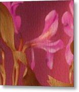 Hot Pink Lilies Metal Print