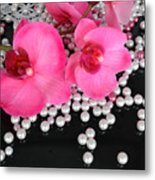 Hot Pink Orchids 2 Metal Print