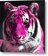 Hot Pink Tiger Metal Print