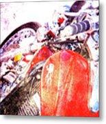 Hot Red Metal Print