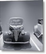 Hot Rod Power Black And White Poster Metal Print