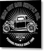 Hot Rod Shop Shirt Metal Print