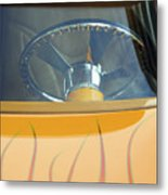 Hot Rod Steering Wheel 2 Metal Print