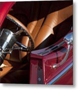 Hot Rod Steering Wheel Metal Print