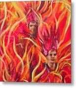 Hot Samba I Triptyche Left Panel Metal Print