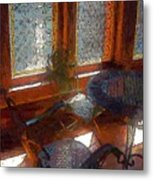 Hot Sun On Wrought Iron Metal Print