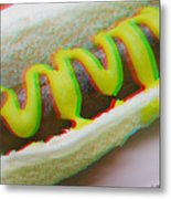 Hotdog - Use Red-cyan 3d Glasses Metal Print