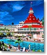 Hotel Coronado Metal Print