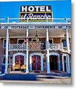 Hotel El Rancho Metal Print